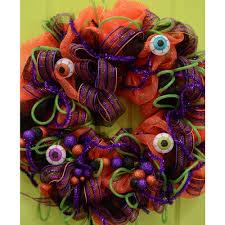 Halloween Eyeball Wreath Halloween Eye Ball Ornament Orange 3814 304 Craftoutlet Com