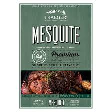 traeger mesquite hardwood pellets 20 lb flavorizer chips