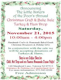 2015 christmas craft and bake sale u2013 turkey and ham drop little