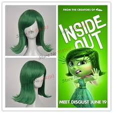 free shipping new movie inside out disgust short green cosplay wig