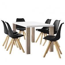 essgruppe küche en casa esstisch eiche mit 6 stühlen gepolstert 160x85cm