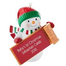 snowman personalized ornament personalized ornaments hallmark