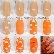 pumpkin nail art tutorial choice image nail art designs