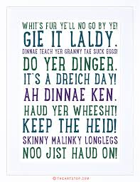 quote scottish sayings phrases scotland typograph framed print
