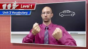 unit 3 vocabulary asl level 1 american sign language youtube