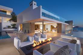 Fire Pit With Glass by Contemporary Deck With Exterior Tile Floors By Horst Architects