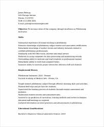 Entry Level Phlebotomy Resume Examples by Phlebotomy Resume Sample And Tips