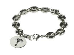 medical id bracelets for women pebble stainless steel chain medical alert id bracelet butler