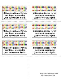 Printable Halloween Candy Coupons by Romantic Love Coupons