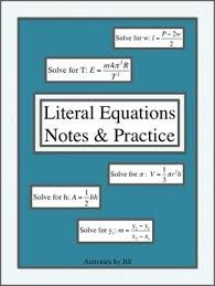 28 best education algebra 1 literal equations images on pinterest