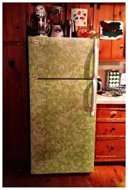 diy cover a scratched u0026 dented fridge with contact paper to give
