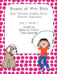 because of winn dixie book study u0026 activities packet