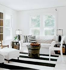 Striped Living Room Chair Black And White Striped Rug Cottage Living Room Schappacher