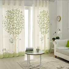 Curtains For Nursery 1x Grommet Drapery Drape Glass Curtain Nursery Children Room
