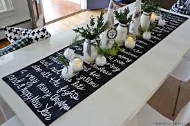 diy table runner ideas christmas song lyric table runner and christmas table setting idea