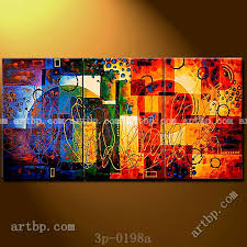 modern paint planetary alignment ii oil painting on canvas modern wall 3 panel