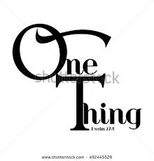 one thing word christianity bible verse stock vector 492445528