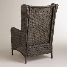 himara all weather wicker wingback chair world market