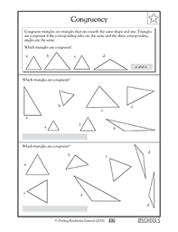 4th grade 5th grade math worksheets 4 types of triangles