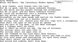 thanksgiving and harvest hymns songs give thanks lyrics and pdf