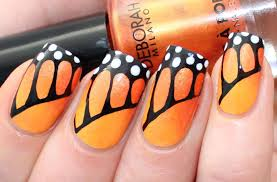 monarch butterfly nail tutorial for deborah