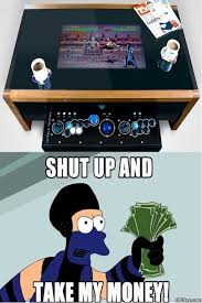 Arcade Meme - coffee table with integrated arcade meme http ibeebz com humor