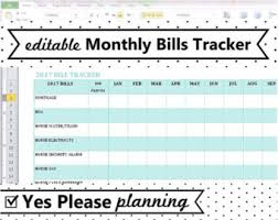 Excel Spreadsheet For Monthly Expenses Expenses Sheet Etsy