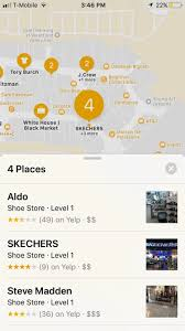 how to navigate indoor mall airport floorplans in apple maps for hunting for some good shoe stores at the mall