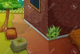 illustration of a backyard area royalty free cliparts vectors