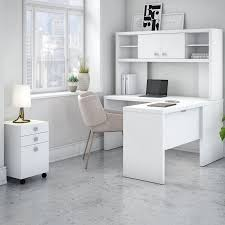 Shaped Desk Kathy Ireland Office By Bush Echo 4 L Shape Desk Office