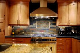 Slate Backsplash Kitchen Aralsacom - Slate kitchen backsplash