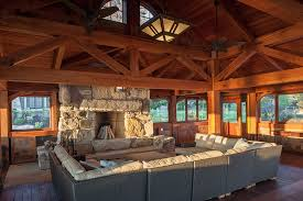 Barn Home Interiors by Timber Frame Timber Frame Home Interiors New Energy Works
