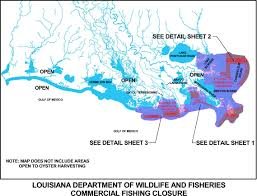 State Of Louisiana Map by Ldwf Reopens Portions Of State Waters In Lafourche Terrebonne