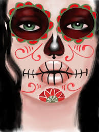 Skeleton Face Painting For Halloween by Mexican Candy Skull Face Paint By Sweethear1993 On Deviantart