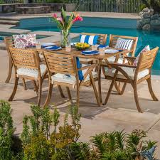 Wooden Patio Table And Chairs Wood Patio Dining Sets You Ll Wayfair