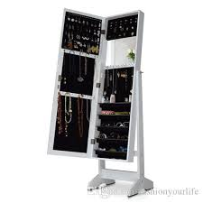 wall mounted jewelry cabinet 2018 wooden jewelry armoire cabinet mirror jewelry cosmetic