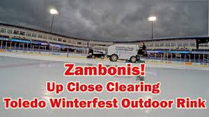 toledo winterfest zamboni clearing the ice inside inside fifth