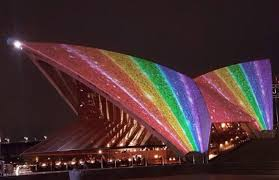 opera house lights up in rainbow colours for mardi gras launch