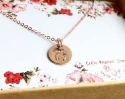 footprint necklace personalized baby footprint etsy