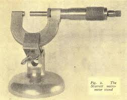 Bench Micrometer Working Micrometer Stands By