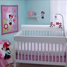 Nursery Decor Sets Baby Nursery Decor Light Blue Wall Colored Minnie Mouse White