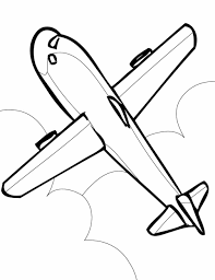cute coloring airplane airplane coloring page for toddlers