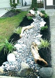 Rock Garden Beds Landscaping With River Rock River Rock Garden Ideas The River