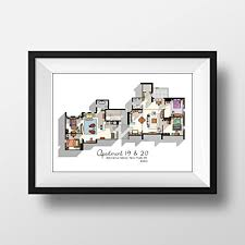 floor layout friends tv show apartment floor plan friends tv show