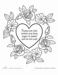preschool coloring pages nursery rhymes roses are red nursery rhyme worksheet education com
