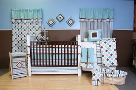 aqua baby bedding stripes crib bedding modern baby bedding