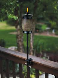 Patio Torch Lights by Amazon Com Tiki Brand 64 Inch Resin Jar Torch 4 In 1 Stone Color