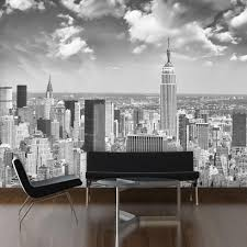 wholesale 3d mural custom wallpaper new york black white city