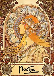 Esszimmer St Le Art Deco Art Nouveau Mucha Google Search Art Nouveau Pinterest