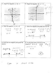 9th Grade Algebra 1 Worksheets Algebra 1 Graphing Linear Equations Worksheet Answers Image